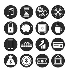 set banking money finance investment growth vector image