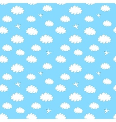 Sky Seamless Pattern vector image