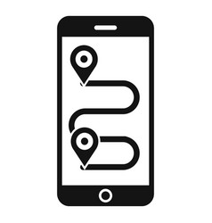 smartphone bike route icon simple style vector image