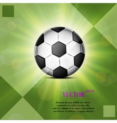 Soccer ball web icon on a flat geometric abstract vector