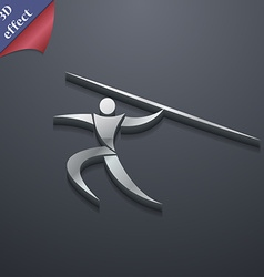 Summer sports Javelin throw icon symbol 3D style vector