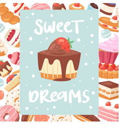 sweet dreams poster or banners vector image