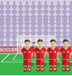 Switzerland Soccer Club Penalty on Stadium vector