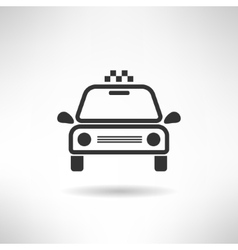 Taxi cab simple icon Retro car silhouette vector