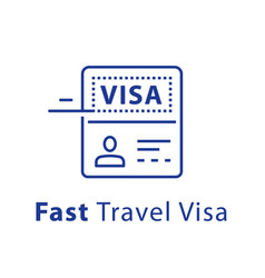 travel visa approval passport and stamp vector image