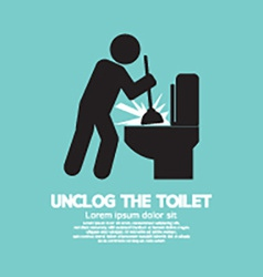 Unclog The Toilet Black Symbol vector
