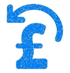 Undo pound payment grainy texture icon vector