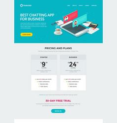 website template design chat messaging app vector image