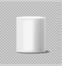 white cylinder solid circular box pillar or stand vector image