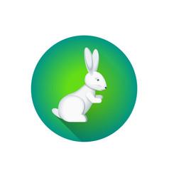 flat cartoon hare vector image