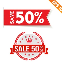 Sale percent sticker price tag - - EPS10 vector image