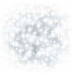 Silver starry christmas background vector image vector image