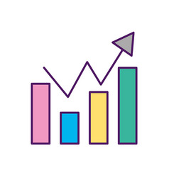 statistic graphic isolated icon vector image