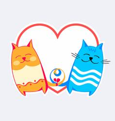 cats love vector image vector image