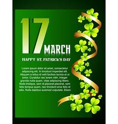 beautiful st patricks day design vector image vector image