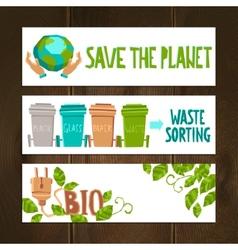Eco Banners Set vector image