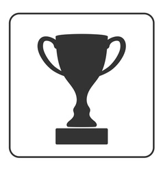 Trophy cup icon 2 vector image vector image