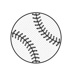 Baseball ball sign black isolated vector image
