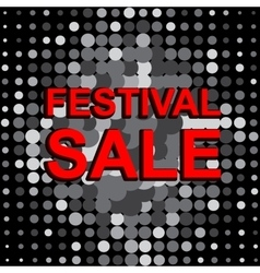 Big sale poster with festival sale text vector