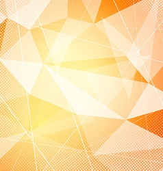 Crystal orange hi-tech modern background layout vector image