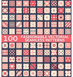 Fashionable vintage seamless patterns vector image