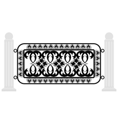 fence with iron grating vector image vector image