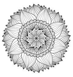 ornamental floral mandala flower ornament pattern vector image