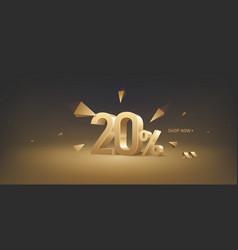 20 percent off discount sale vector