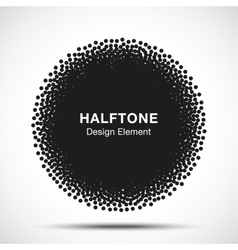 Abstract Halftone Dots Circle vector image