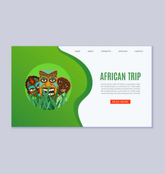 africa trip and travel web template vector image