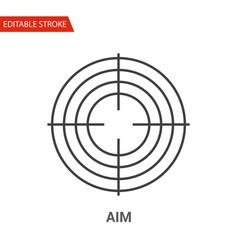 aim icon thin line vector image