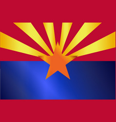 Arizona state flag gloss vector