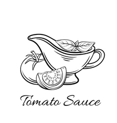 Badge tomato sauce Logo food product vector