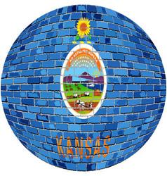 Ball with kansas flag vector