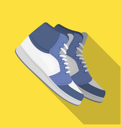 basketball shoesbasketball single icon in flat vector image
