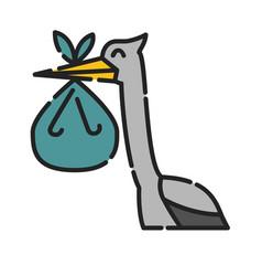 bastork icon design clip art color icon vector image