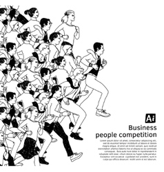 Bus people big group competition black vector image