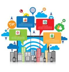 Business technology design vector