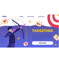 Businessman aiming arrow to target board challenge vector