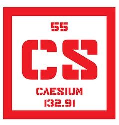 Caesium chemical element vector image