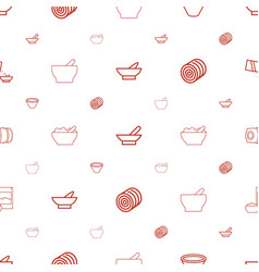 Cereal icons pattern seamless white background vector
