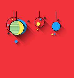christmas balls memphis style geometric shapes vector image