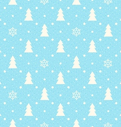 Christmas seamless background with fir tree and vector image
