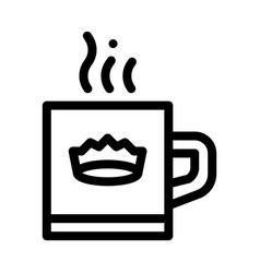 crown drink cup icon outline vector image