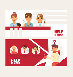 Doctors team avatars and other hospital workers vector