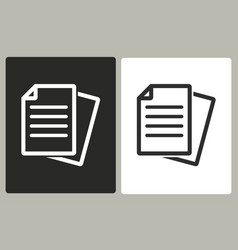 Document - icon vector