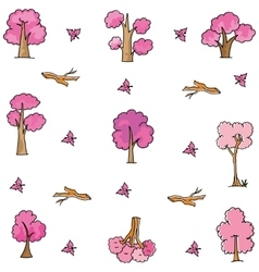 Doodle of tree style cartoon vector