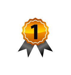 Emblem best quality number 1 vector