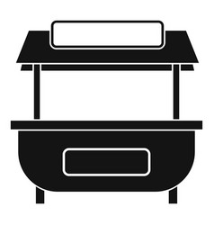 Empty counter with canopy icon simple style vector