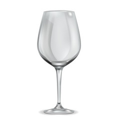 empty wineglass clean drinking crystal glass vector image